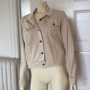 Levi's vintage Orange Tag cream tan denim jacket